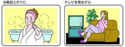 半導体ビューティーローラーをお風呂あがりやTV見ながら利用